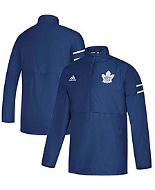 Men's Blue Toronto Maple Leafs Game Mode Quarter-Zip Pullover Jacket