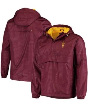 Men's Maroon Arizona State Sun Devils High Impact Hoodie Half-Zip Jacket