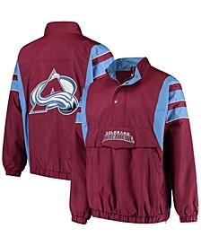Men's Burgundy Colorado Avalanche Impact Half-Zip Jacket