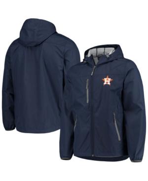 Men's Navy Houston Astros Double Play Hoodie Full-Zip Jacket