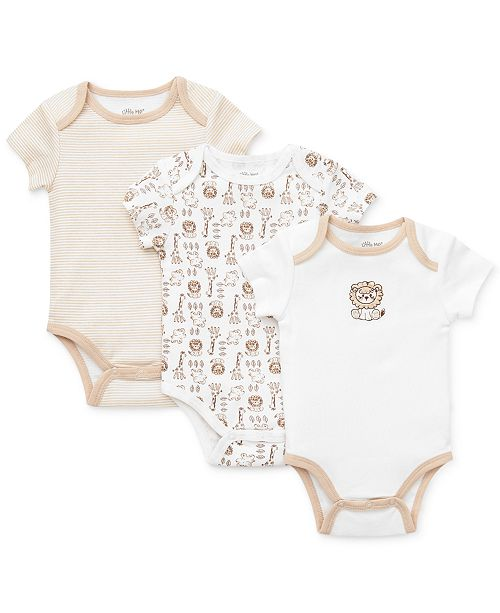 Little Me Baby Boys Safari Bodysuits 3-Pack