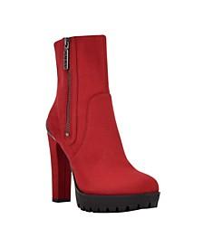 Women's Tanvin Lug Sole Block Heel Booties