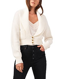 Long Sleeve Button Up Collared Cardigan