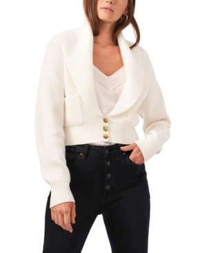 1.state Long Sleeve Button Up Collared Cardigan