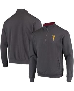 Men's Charcoal Arizona State Sun Devils Tortugas Logo Quarter-Zip Jacket