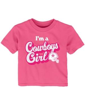 Baby Girls Pink Dallas Cowboys Team Girl T-shirt
