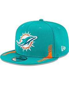 Youth Girls and Boys Aqua Miami Dolphins Sideline Home 9Fifty Snapback Hat