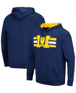 Men's Navy Michigan Wolverines Lighthouse Pullover Hoodie