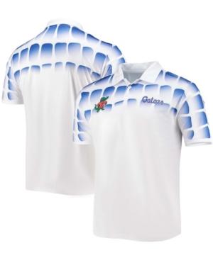 Men's White Florida Gators 25Th Anniversary Gator Skin Polo Shirt