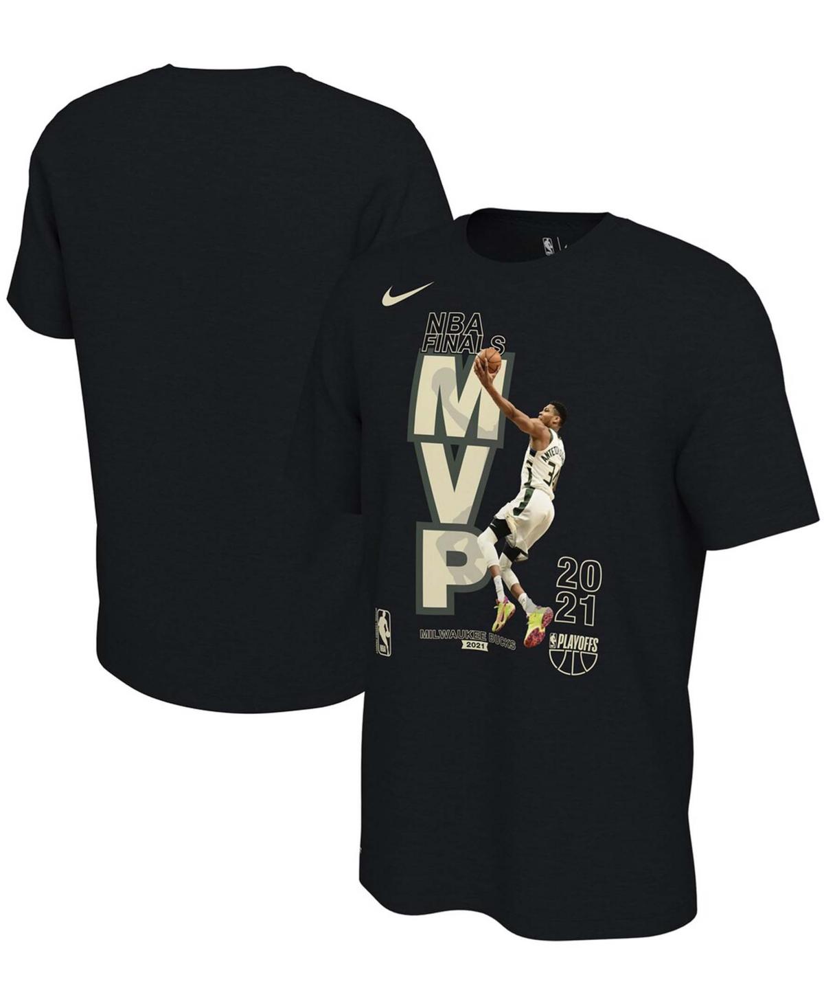 Men's Giannis Antetokounmpo Black Milwaukee Bucks 2021 Nba Finals Champions Mvp T-shirt