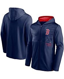 Men's Navy Boston Red Sox Primary Logo Full-Zip Hoodie