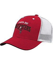 Youth Girls and Boys Red, White Tampa Bay Buccaneers Core Lockup Snapback Hat