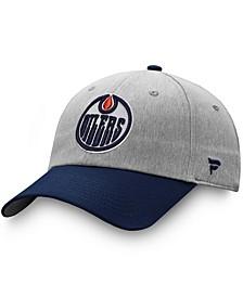 Men's Gray, Navy Edmonton Oilers Snapback Hat