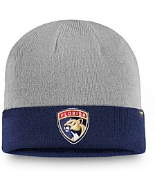 Men's Gray, Navy Florida Panthers Two-Tone Cuffed Knit Hat