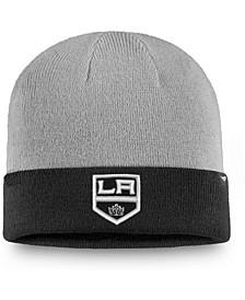 Men's Gray, Black Los Angeles Kings Two-Tone Cuffed Knit Hat
