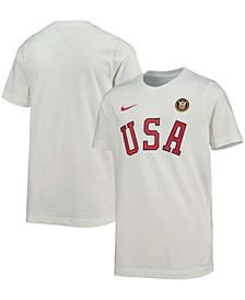 Youth Boys White Team USA Logo Olympic T-shirt