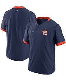 Men's Navy, Orange Houston Astros Authentic Collection Short Sleeve Hot Pullover Jacket