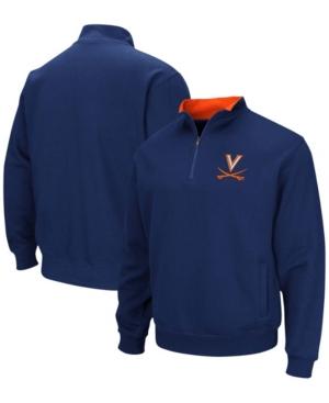 Men's Navy Virginia Cavaliers Tortugas Team Logo Quarter-Zip Jacket