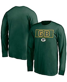 Youth Boy's Green Green Bay Packers Squad Throwback Long Sleeve T-shirt