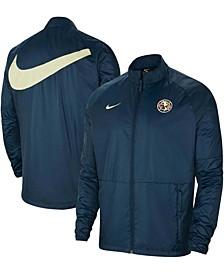 Men's Navy Club America All-Weather Raglan Full-Zip Jacket