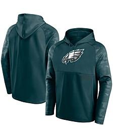 Men's Midnight Green Philadelphia Eagles Shade Defender Raglan Pullover Hoodie