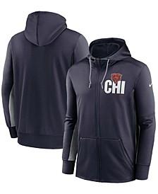 Men's Navy, Gray Chicago Bears Mascot Performance Full-Zip Hoodie
