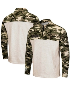 Men's Oatmeal Michigan State Spartans Oht Military-Inspired Appreciation Desert Camo Quarter-Zip Pullover Jacket
