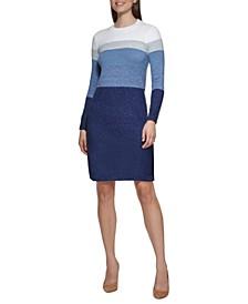 Petite Colorblocked Sweater Dress