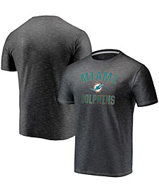 Youth Big Boys Charcoal Miami Dolphins Victory Arch Space Dye T-Shirt