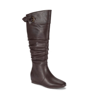 Sable Wide Calf Tall Wedge Boot Women's Shoes