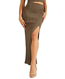 High Slit Amalia Maxi Skirt