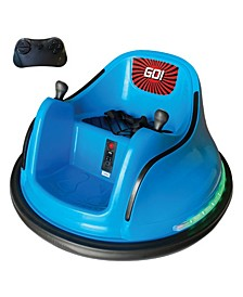 Electric Remote Control Kids Ride-On Bumper Car - Lights and Music