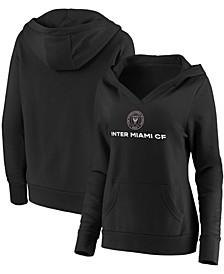 Plus Size Black Inter Miami CF Primary Logo Pullover Hoodie
