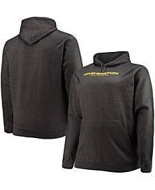 Men's Big and Tall Charcoal Washington Football Team Logo Pullover Hoodie