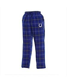 Men's Royal Indianapolis Colts Ultimate Plaid Flannel Pajama Pants