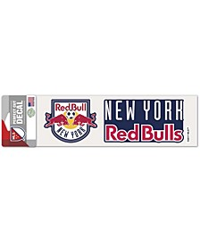 """Multi New York Red Bulls 3"""" x 10"""" Perfect Cut Color Decal"""