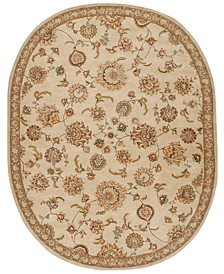 """Wool and Silk 2000 Oval 2360 Beige 7'6"""" x 9'6"""" Area Rug"""