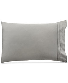 Donna Karan Home Pair of Silver Standard/Queen Pillowcases