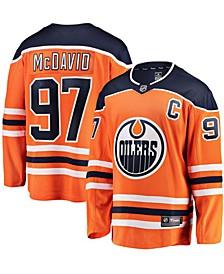 Men's Connor Mcdavid Orange Edmonton Oilers Breakaway Player Jersey