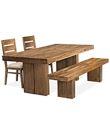 CLOSEOUT! Champagne 4-Piece Dining Room Furniture Set, (Dining Trestle Table, 2 Side Chairs & Bench), Created for Macy's
