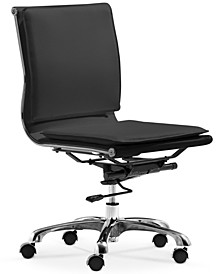 Brayden Faux Leather Armless Office Chair