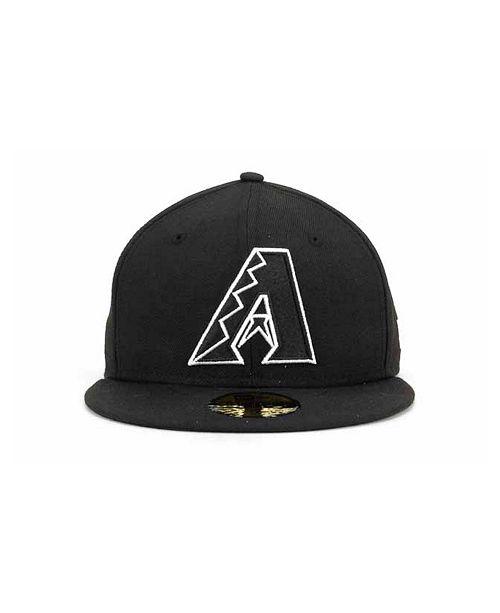 88b37950c8316 ... New Era Arizona Diamondbacks MLB Black and White Fashion 59FIFTY Cap ...