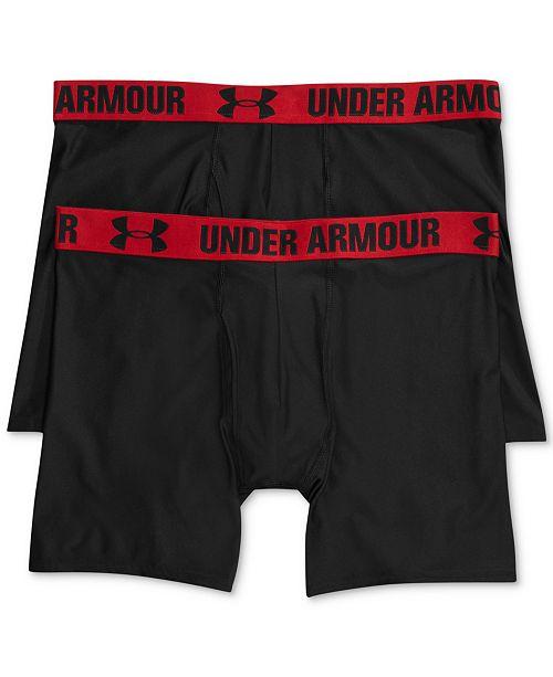 7483da9751 Under Armour Men's HeatGear 6'' BoxerJock 2-Pack & Reviews ...