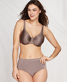 Wacoal Basic Beauty Full Figure Underwire Bra and B-Smooth High-Cut Brief