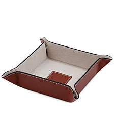 Bey-Berk Snap Leather Valet Tray