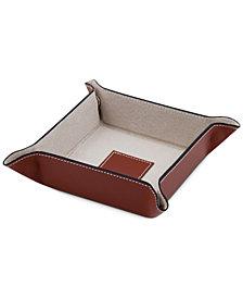 Bey-Berk Snap Leather Valet Tray