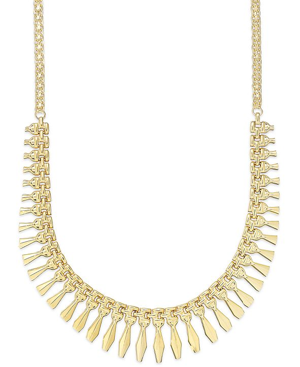 Giani Bernini Cleopatra Frontal Necklace in 24k Gold over Sterling Silver