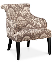 Tinsley Botanical Accent Chair, Quick  Ship