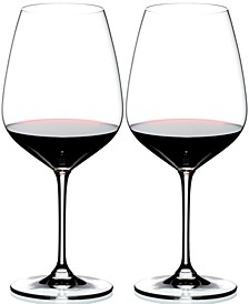 Set of 2 Heart to Heart Cabernet Glasses