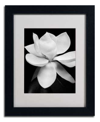 """'Magnolia' Matted Framed Canvas Print by Michael Harrison, 11"""" x 14"""""""